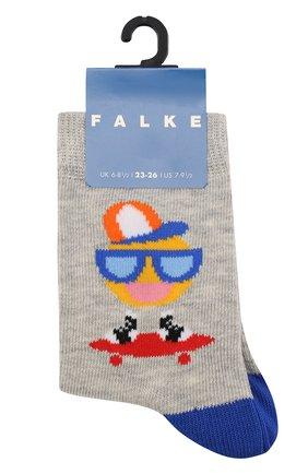 Детские носки с принтом FALKE серого цвета, арт. 12138 | Фото 1
