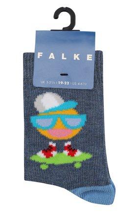 Детские носки с принтом FALKE голубого цвета, арт. 12138 | Фото 1