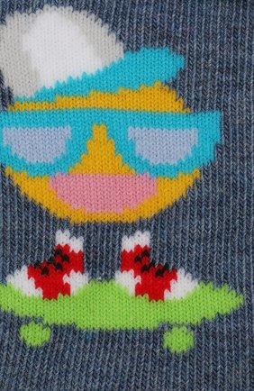 Детские носки с принтом FALKE голубого цвета, арт. 12138 | Фото 2