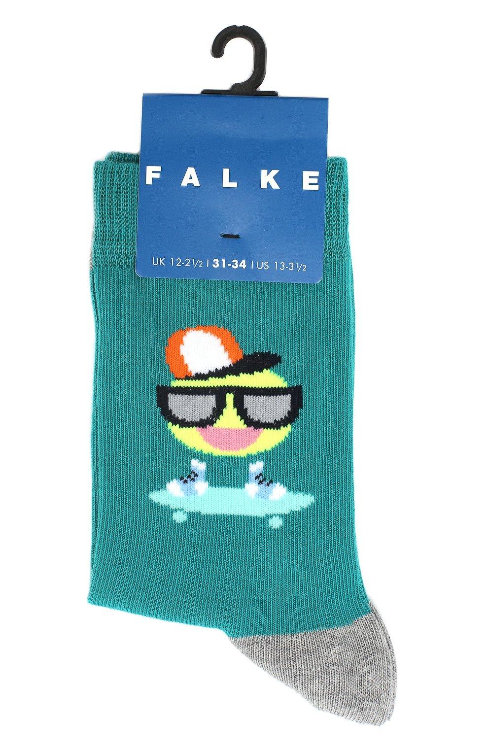 Детские носки с принтом FALKE зеленого цвета, арт. 12138   Фото 1