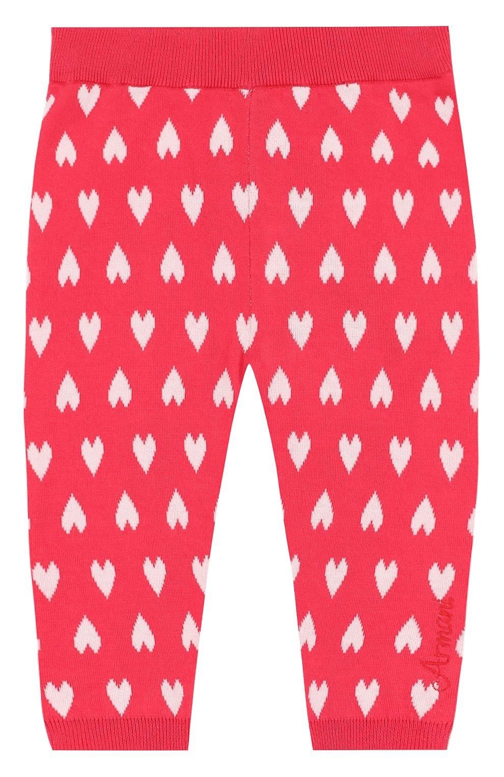 Детские хлопковые брюки с принтом ARMANI JUNIOR фуксия цвета, арт. 3ZEP70/3M0QZ | Фото 1