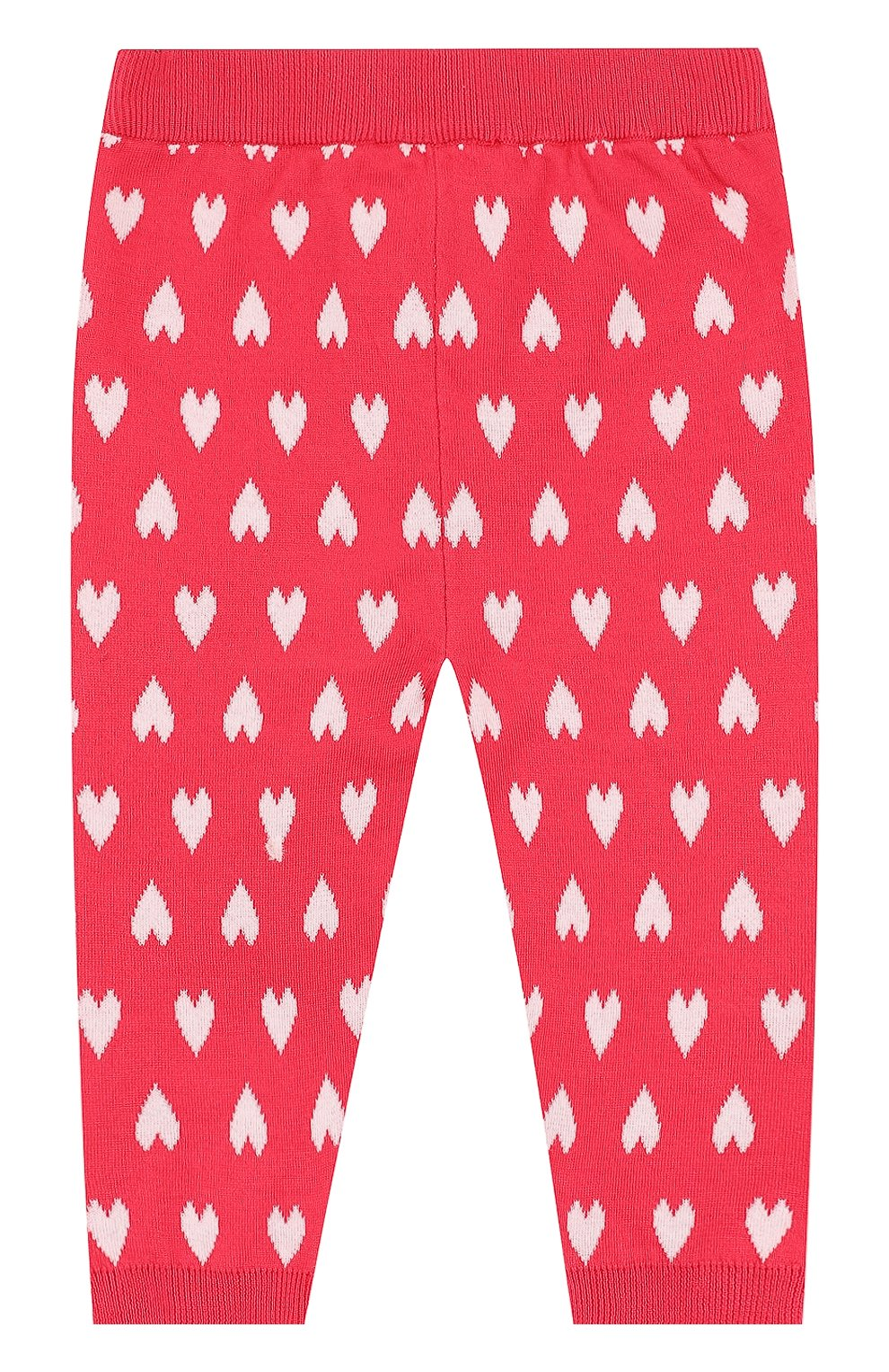 Детские хлопковые брюки с принтом ARMANI JUNIOR фуксия цвета, арт. 3ZEP70/3M0QZ | Фото 2