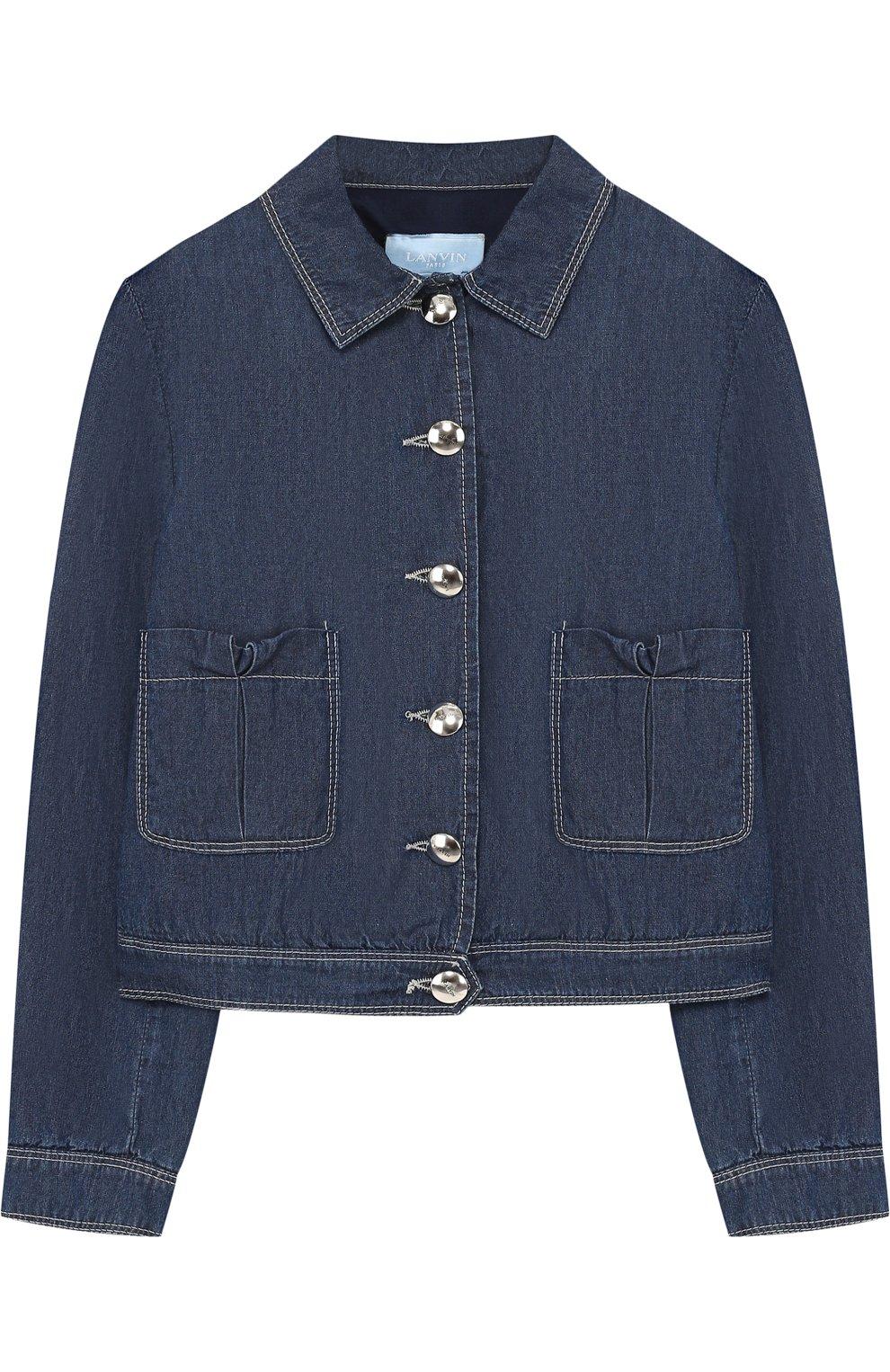 Джинсовая куртка с карманами | Фото №1