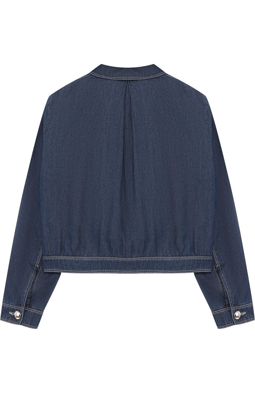Джинсовая куртка с карманами | Фото №2