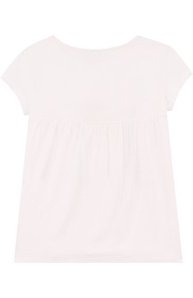 Детская футболка из вискозы с принтом ARMANI JUNIOR белого цвета, арт. 3Z3T80/3J1HZ/4A-10A | Фото 2