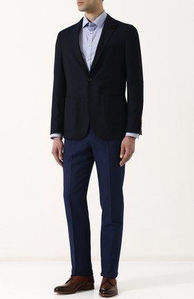 Однобортный шерстяной пиджак Windsor темно-синий | Фото №1