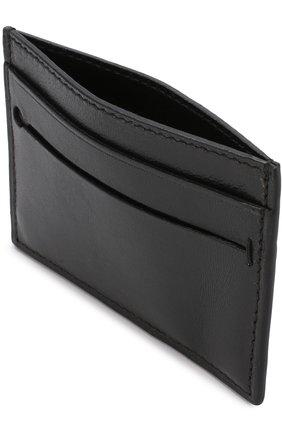 Мужской кожаный футляр для кредитных карт ERMENEGILDO ZEGNA черного цвета, арт. E1259T-AFR | Фото 3