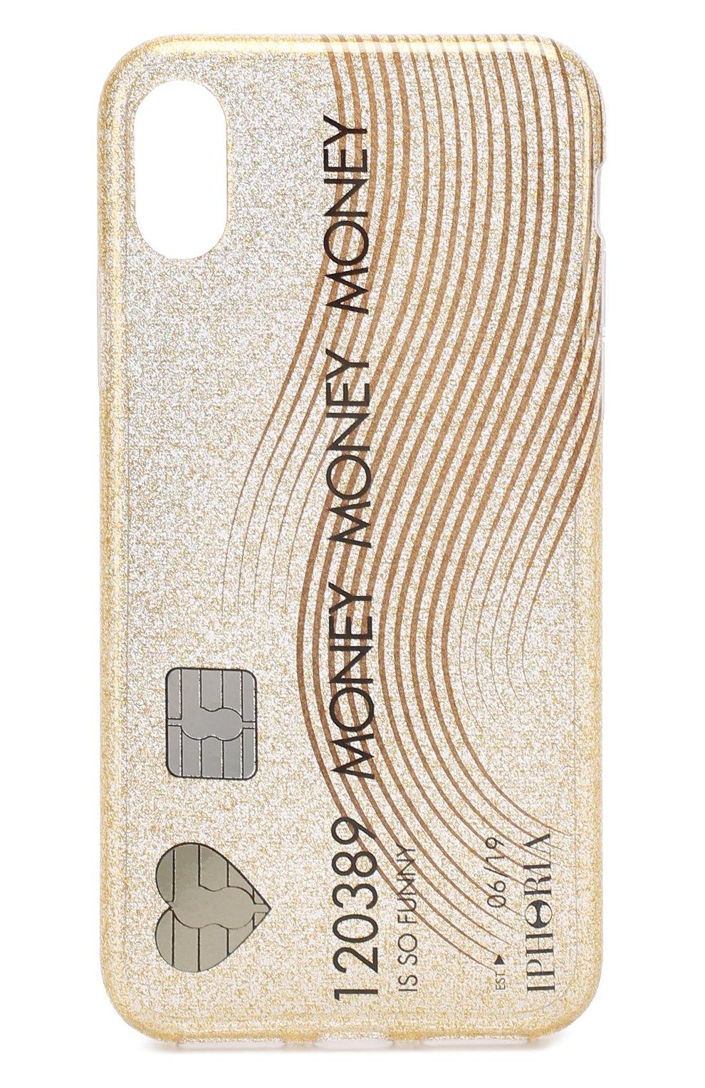 Мужской чехол для iphone x с декоративной отделкой IPHORIA золотого цвета, арт. 14504 | Фото 1