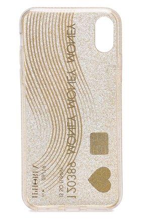 Мужской чехол для iphone x с декоративной отделкой IPHORIA золотого цвета, арт. 14504 | Фото 2