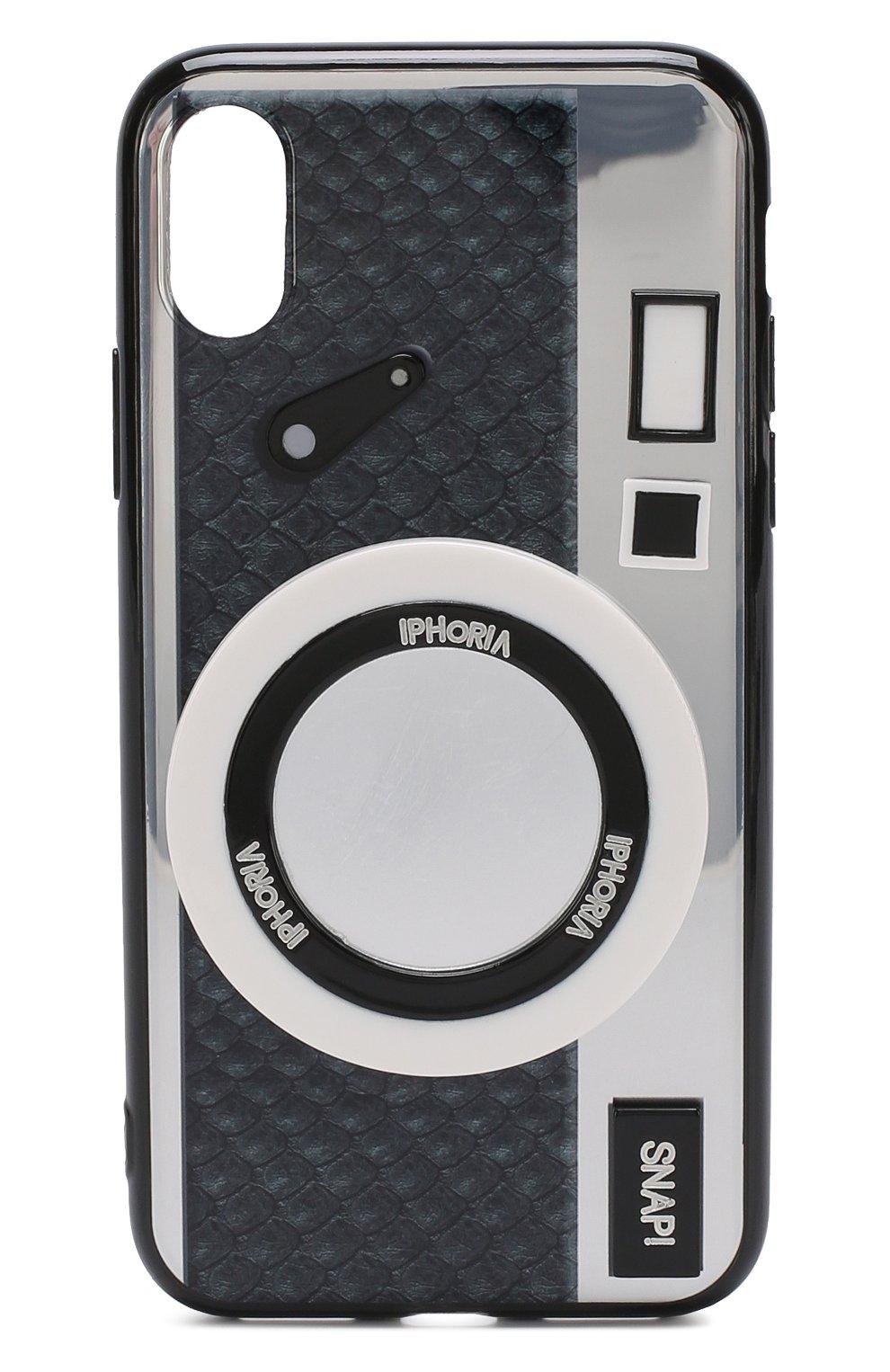 Мужской чехол для iphone x с декоративной отделкой IPHORIA серебряного цвета, арт. 14515 | Фото 1