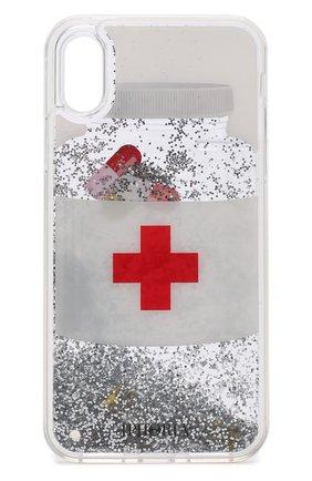 Мужской чехол для iphone x с декоративной отделкой IPHORIA белого цвета, арт. 14567 | Фото 1