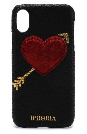 Мужской чехол для iphone x с декоративной отделкой IPHORIA черного цвета, арт. 14604   Фото 1