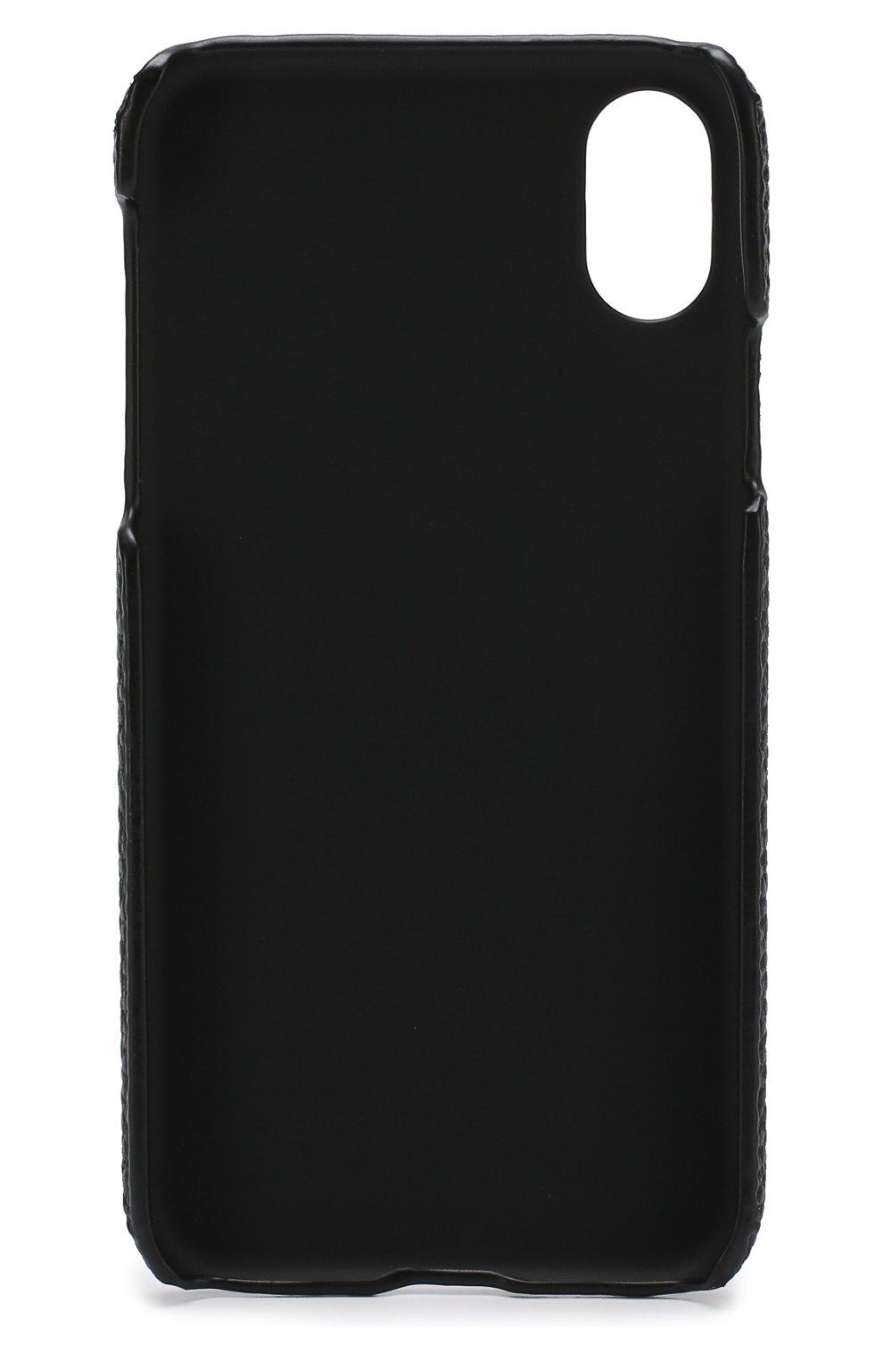 Мужской чехол для iphone x с декоративной отделкой IPHORIA черного цвета, арт. 14604   Фото 2