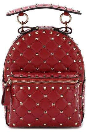 Женский рюкзак valentino garavani rockstud spike mini VALENTINO красного цвета, арт. PW0B0B63/NAP | Фото 1