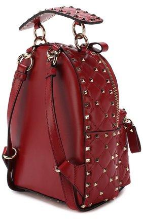 Женский рюкзак valentino garavani rockstud spike mini VALENTINO красного цвета, арт. PW0B0B63/NAP   Фото 3