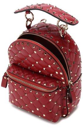 Женский рюкзак valentino garavani rockstud spike mini VALENTINO красного цвета, арт. PW0B0B63/NAP   Фото 4