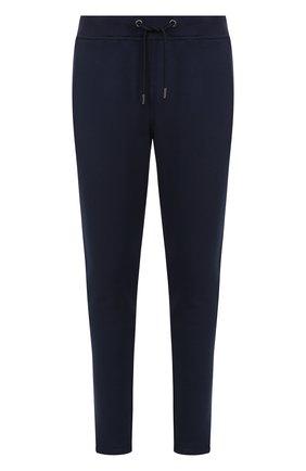 Хлопковые джоггеры с карманами Frankie Morello синие | Фото №1