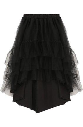 Хлопковая юбка асимметричного кроя  | Фото №1