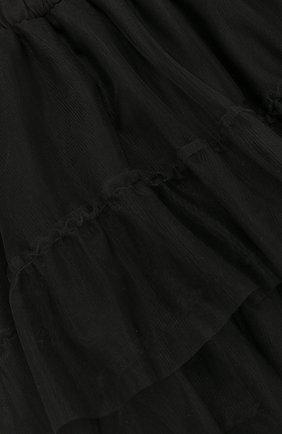 Детская хлопковая юбка асимметричного кроя  NUNUNU черного цвета, арт. NU1768B | Фото 3