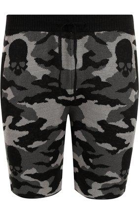 Льняные шорты с камуфляжным принтом Gemma. H черные | Фото №1