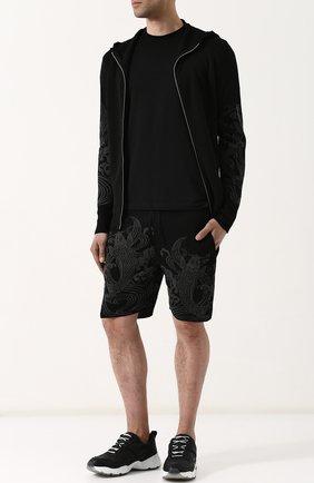 Льняные шорты с принтом Gemma. H черные | Фото №1