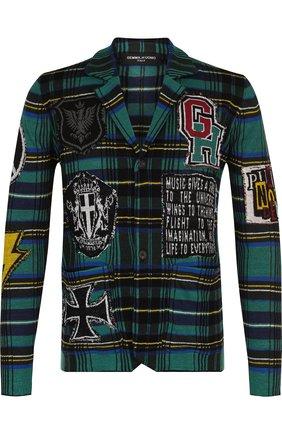 Однобортный льняной пиджак с нашивками Gemma. H зеленый | Фото №1