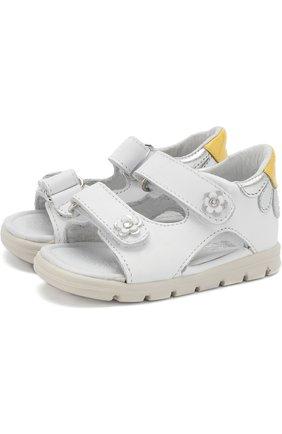 Кожаные сандалии с застежками велькро   Фото №1