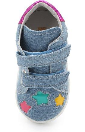 Детские текстильные кеды с застежками велькро и фигурной отделкой FALCOTTO разноцветного цвета, арт. 0012012343/02 | Фото 4