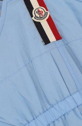 Детский комбинезон на подтяжках MONCLER ENFANT голубого цвета, арт. D1-951-14001-05-68352 | Фото 3