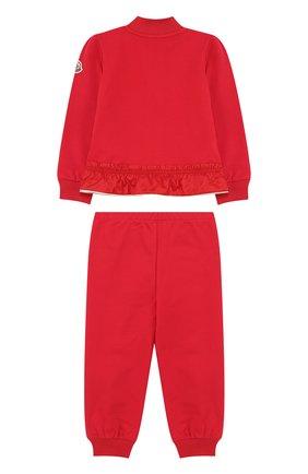 Детский хлопковый костюм из брюк и кардигана на молнии MONCLER ENFANT красного цвета, арт. D1-951-88564-05-809AC | Фото 2