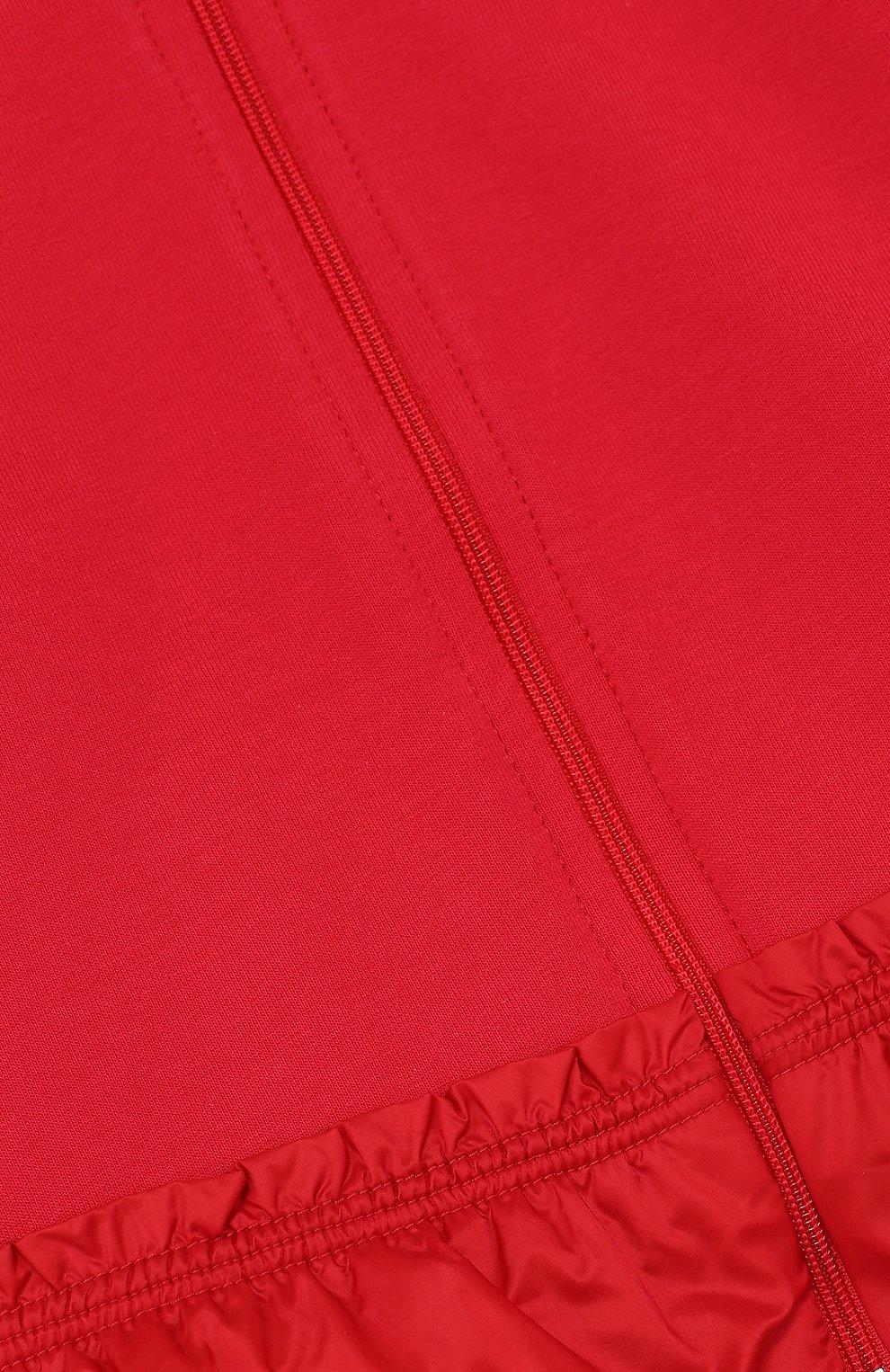 Детский хлопковый костюм из брюк и кардигана на молнии MONCLER ENFANT красного цвета, арт. D1-951-88564-05-809AC | Фото 3