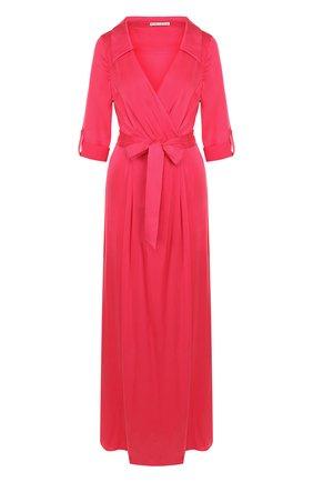 Шелковое платье-макси с запахом | Фото №1