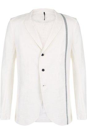 Однобортный хлопковый пиджак Masnada белый | Фото №1
