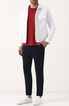 Мужская джинсовая куртка на пуговицах THE EDITOR белого цвета, арт. E402409T25/1003   Фото 2
