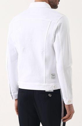 Мужская джинсовая куртка на пуговицах THE EDITOR белого цвета, арт. E402409T25/1003   Фото 4