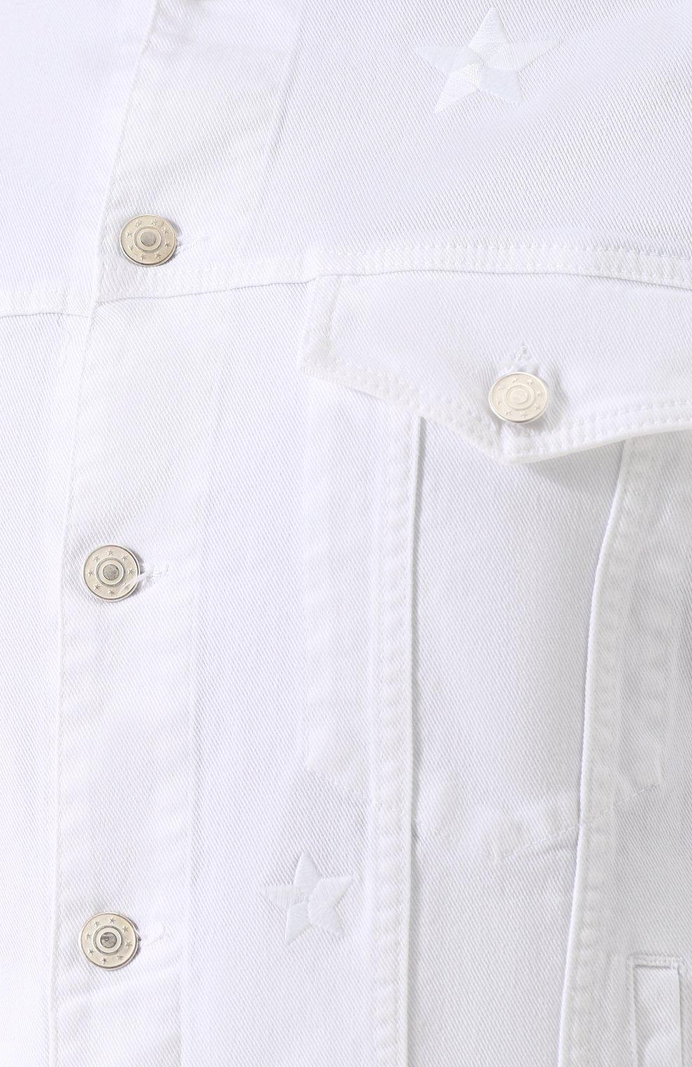 Мужская джинсовая куртка на пуговицах THE EDITOR белого цвета, арт. E402409T25/1003   Фото 5