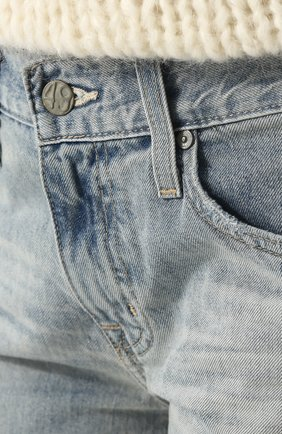 Женские укороченные джинсы прямого кроя с потертостями AG голубого цвета, арт. LGN1575/22Y-SEF | Фото 5