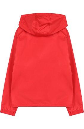 Куртка на молнии с капюшоном Fay Junior красного цвета | Фото №1