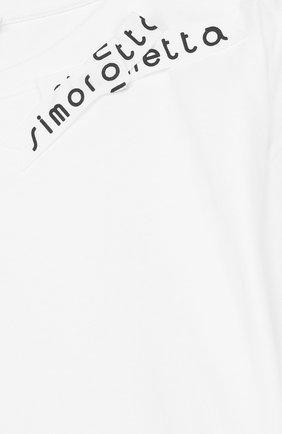 Детский хлопковый топ с баской и бантом SIMONETTA белого цвета, арт. 1I8091/IA580/12-16 | Фото 3