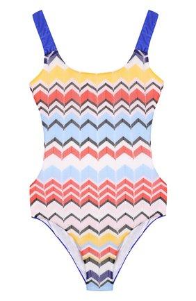Слитный купальник с принтом Missoni разноцветного цвета | Фото №1