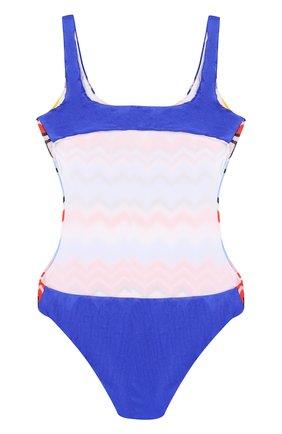 Слитный купальник с принтом Missoni разноцветного цвета | Фото №2