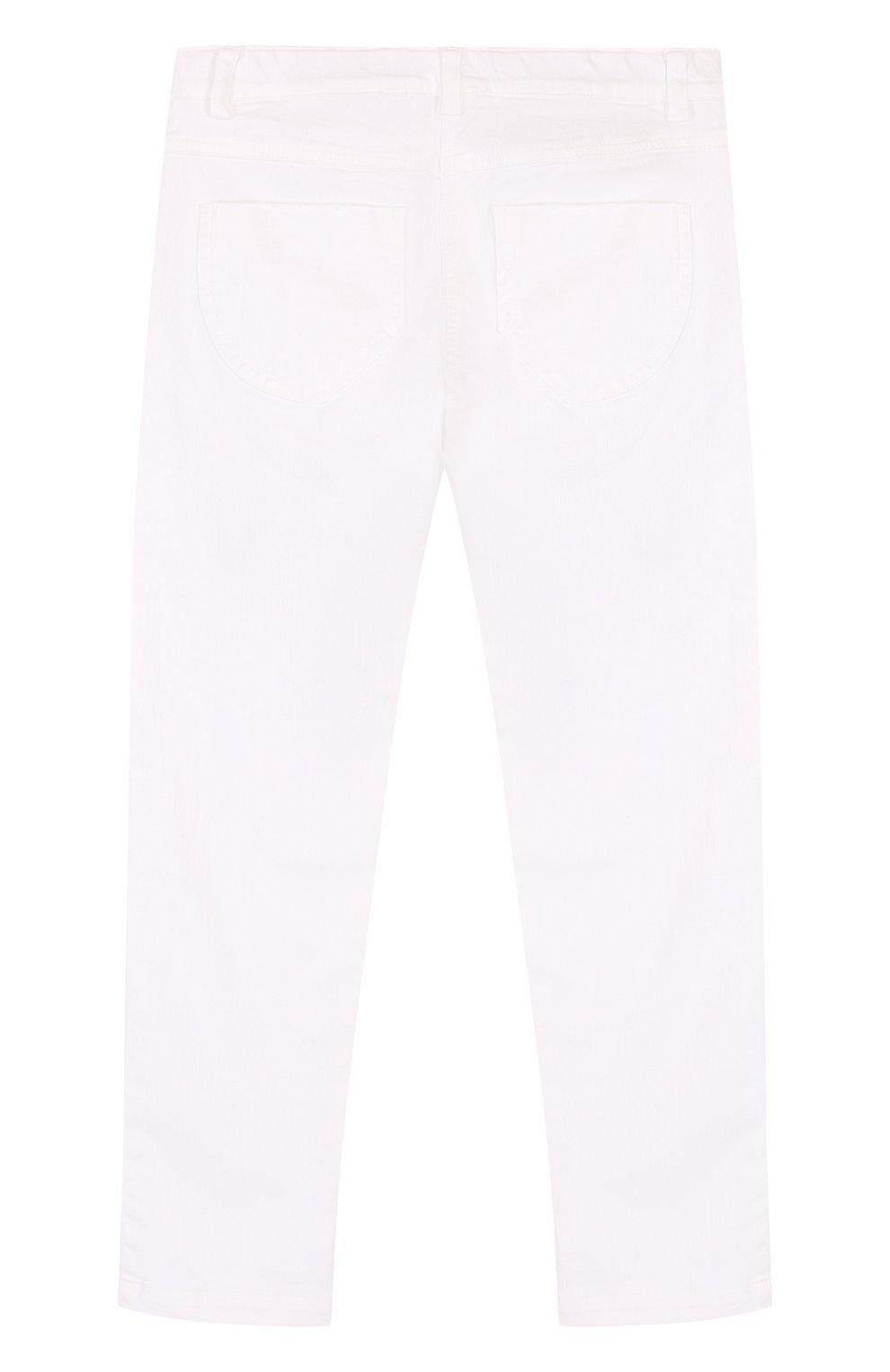 Детские джинсы с декоративными потертостями ERMANNO SCERVINO белого цвета, арт. 42 I PL09/4-8 | Фото 2