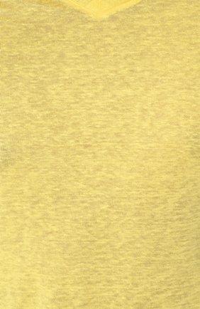 Мужская льняная футболка с v-образным вырезом ZILLI желтого цвета, арт. MFP-ZJ001-66006/0001 | Фото 5