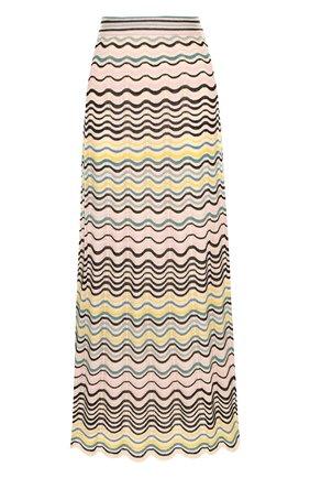 Вязаная юбка-миди из смеси хлопка и полиамида M Missoni разноцветная | Фото №1