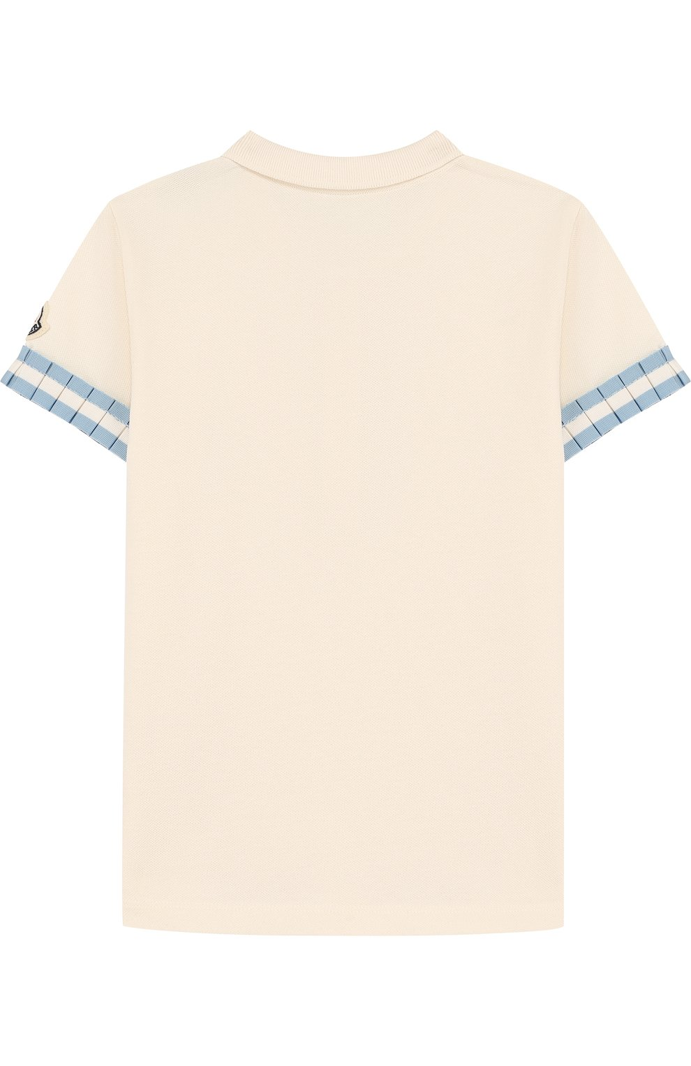 Детское хлопковое поло с плиссированной отделкой MONCLER ENFANT белого цвета, арт. D1-954-83546-05-8496F/4-6A | Фото 2