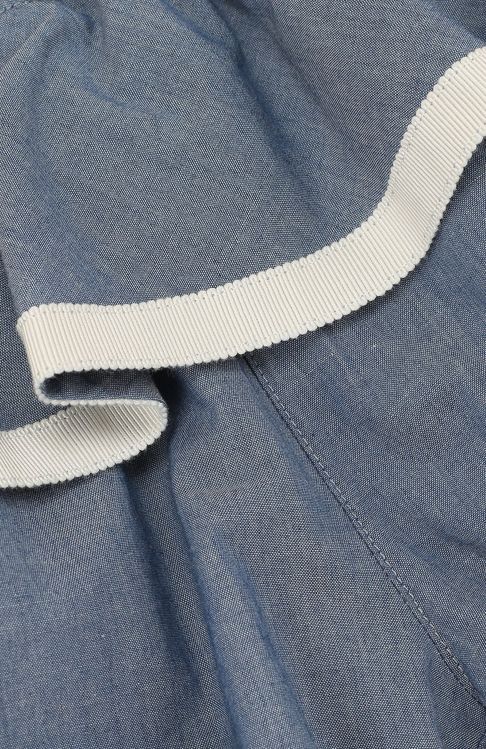 Детские хлопковые шорты с баской MONCLER ENFANT синего цвета, арт. D1-951-18012-05-549MB | Фото 3