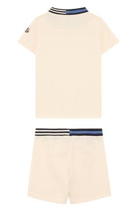 Детский хлопковый комплект из футболки и шорт MONCLER ENFANT белого цвета, арт. D1-951-88101-05-8496F | Фото 2