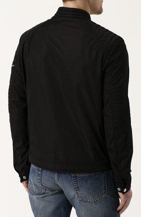 Мужской бомбер jaur на молнии с воротником-стойкой MONCLER черного цвета, арт. D1-091-40600-00-54155 | Фото 4