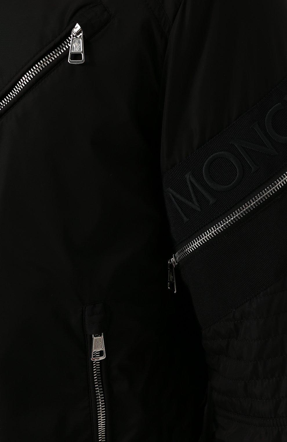 Мужской бомбер jaur на молнии с воротником-стойкой MONCLER черного цвета, арт. D1-091-40600-00-54155 | Фото 5