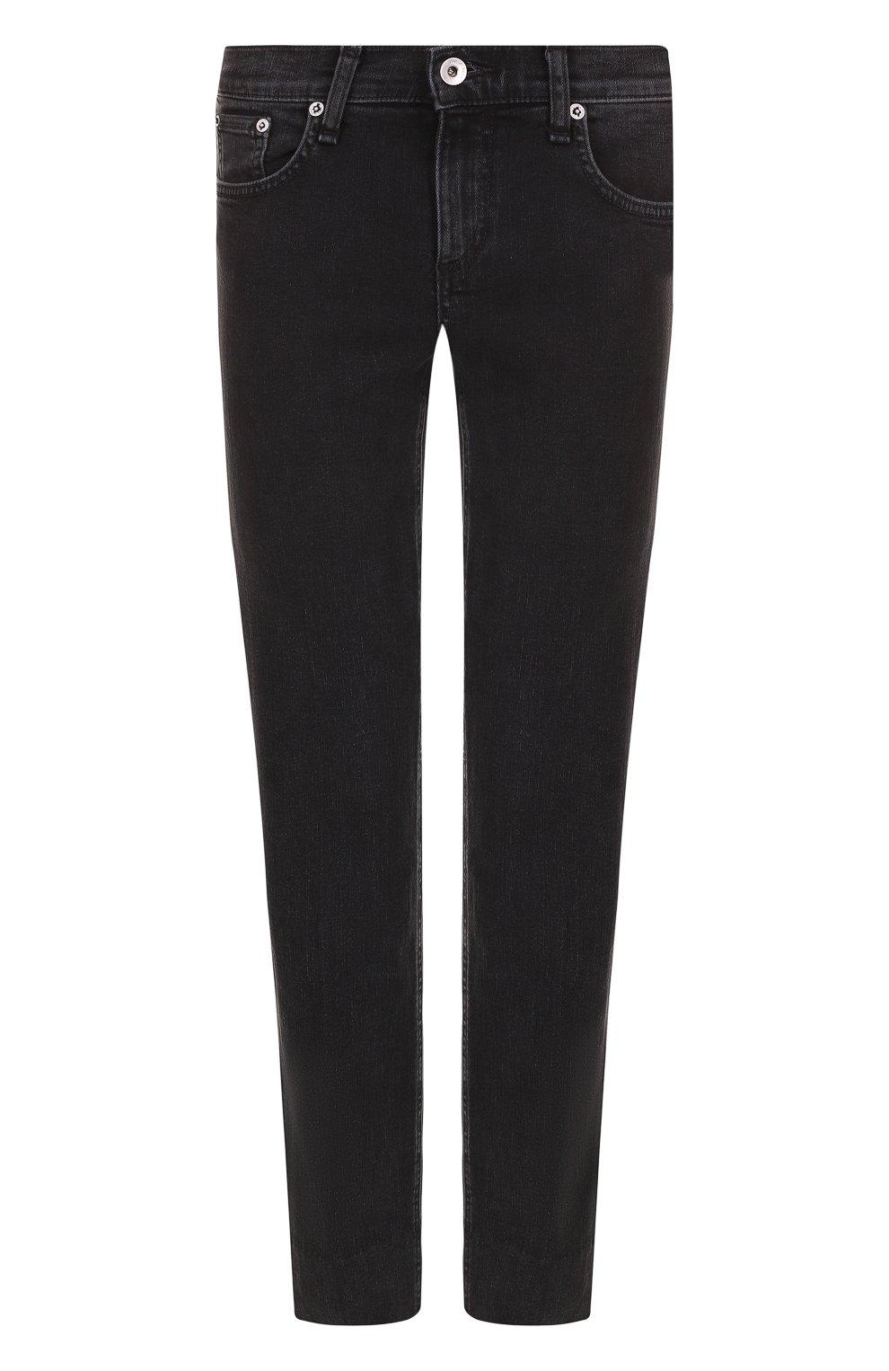 Женские укороченные джинсы прямого кроя с потертостями RAG&BONE серого цвета, арт. W2592K502KUR | Фото 1